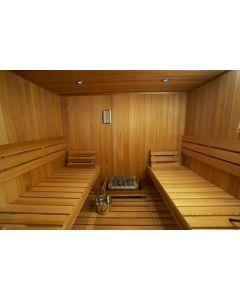 3020038-01 Sauna Bench, Backrest, Heater Guardrail