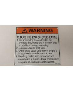 Metal Warning Sauna Sign