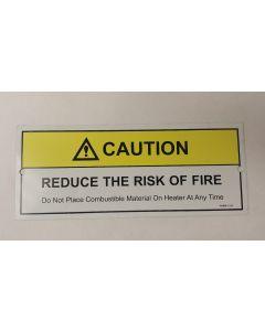 Metal Caution Sauna Sign