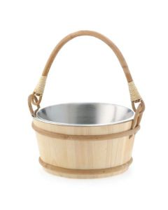 Bucket, 1.3 Gallon Wood with Stainless Steel Liner