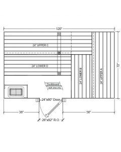 6x10 Clear Western Red Cedar Custom Sauna Kit