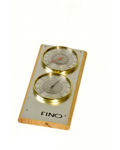 Vertical 2 Dial Stainless Steel Sauna Thermometer / Hygrometer