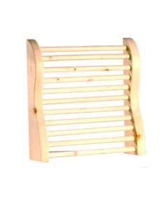 Curved Hemlock Sauna Headrest
