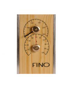 Vertical Cedar Sauna Thermometer / Hygrometer