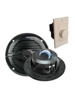 Polar Speaker Set for Sauna, 2 Speakers (9252-025, Volume Control (9252-021), Jack (4000-220)