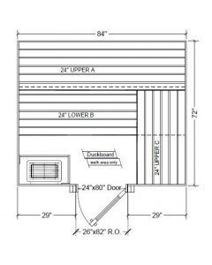6x7 Clear Western Red Cedar Custom Sauna Kit