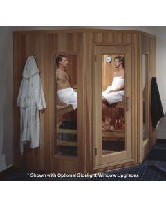 Polar PB66 Corner 5-Sided Pre-Built, Modular Sauna Room