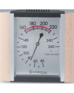 Thermometer, Wood Trim and Metallic Face