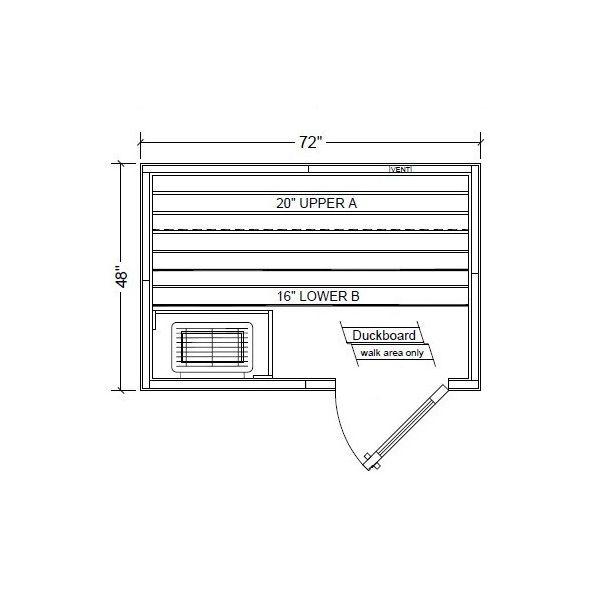 Polar PB46 Outdoor Pre-Built Sauna