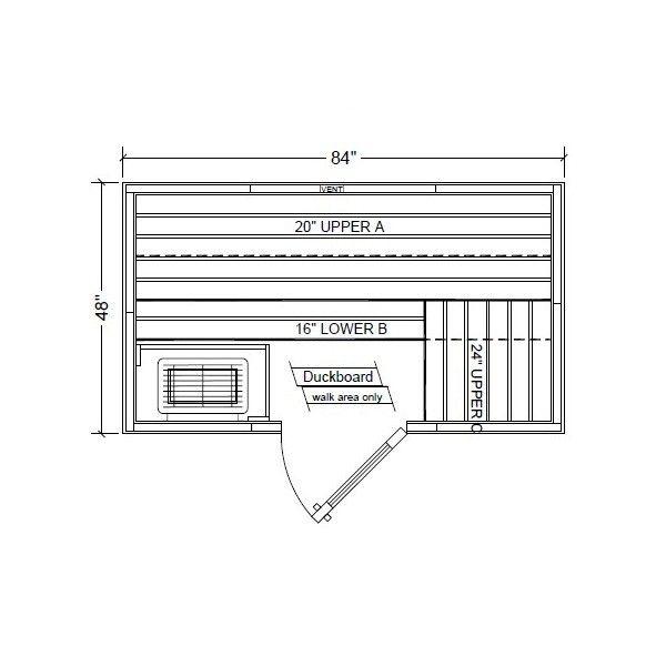 Polar PB47 Outdoor Pre-Built Sauna