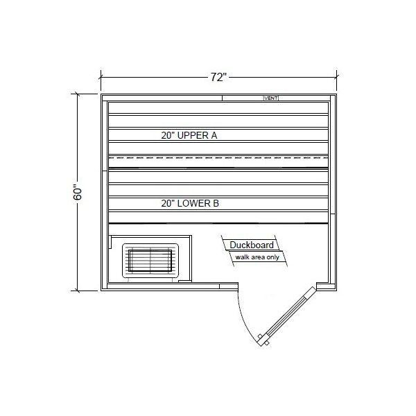 Polar PB56 Outdoor Pre-Built Sauna