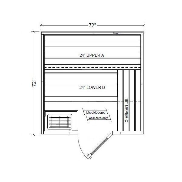 Polar PB66 Outdoor Pre-Built Sauna