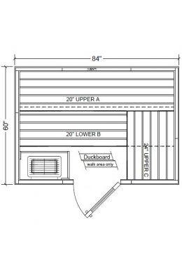 Polar PB57 Outdoor Pre-Built Sauna