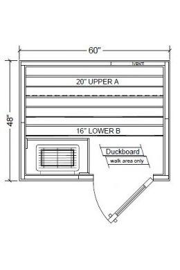 Polar PB45 Outdoor Pre-Built Sauna