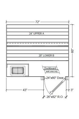 5x6 Clear Western Red Cedar Custom Sauna Kit