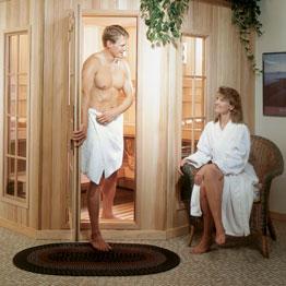 Happy Sauna couple